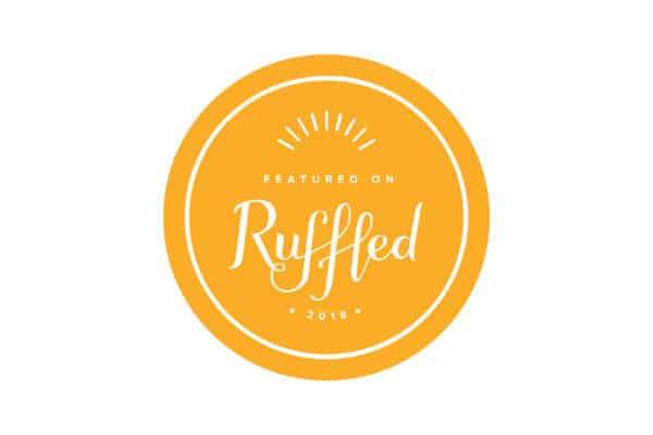 Illustrated badge for Ruffled Blog