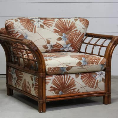 Photo of an antique patterned arm chair